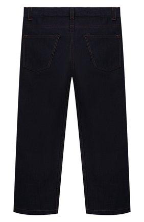 Детские джинсы LORO PIANA темно-синего цвета, арт. FAL7434   Фото 2 (Материал внешний: Хлопок; Ростовка одежда: 10 - 11 лет   140 - 146см, 18 мес   86 см, 4 года   104 см, 6 лет   116 см, 8 лет   128 см)