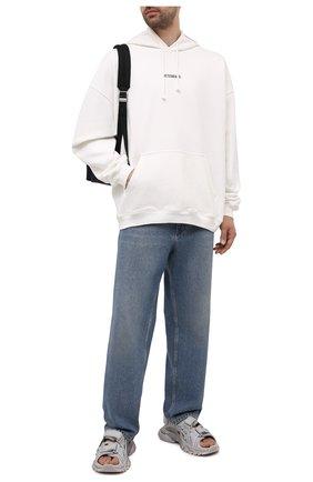 Мужские комбинированные сандалии track BALENCIAGA серого цвета, арт. 655954/W2CC2 | Фото 2