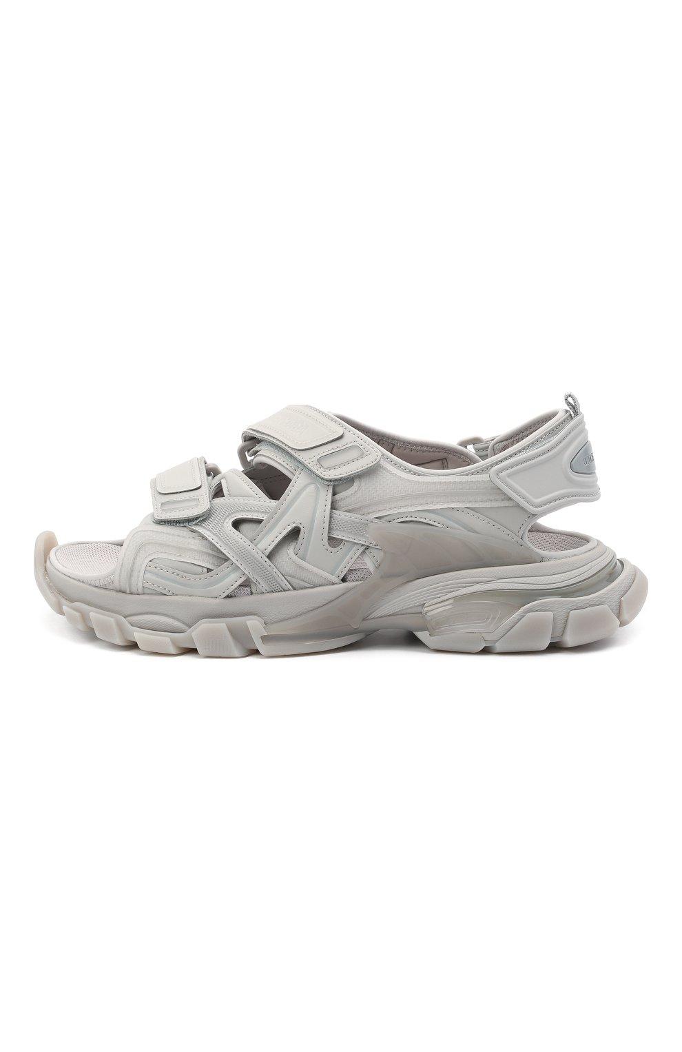 Мужские комбинированные сандалии track BALENCIAGA серого цвета, арт. 655954/W2CC2 | Фото 3 (Материал внешний: Текстиль; Материал внутренний: Текстиль)