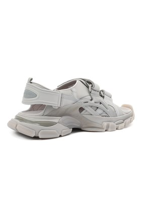 Мужские комбинированные сандалии track BALENCIAGA серого цвета, арт. 655954/W2CC2 | Фото 4 (Материал внешний: Текстиль; Материал внутренний: Текстиль)