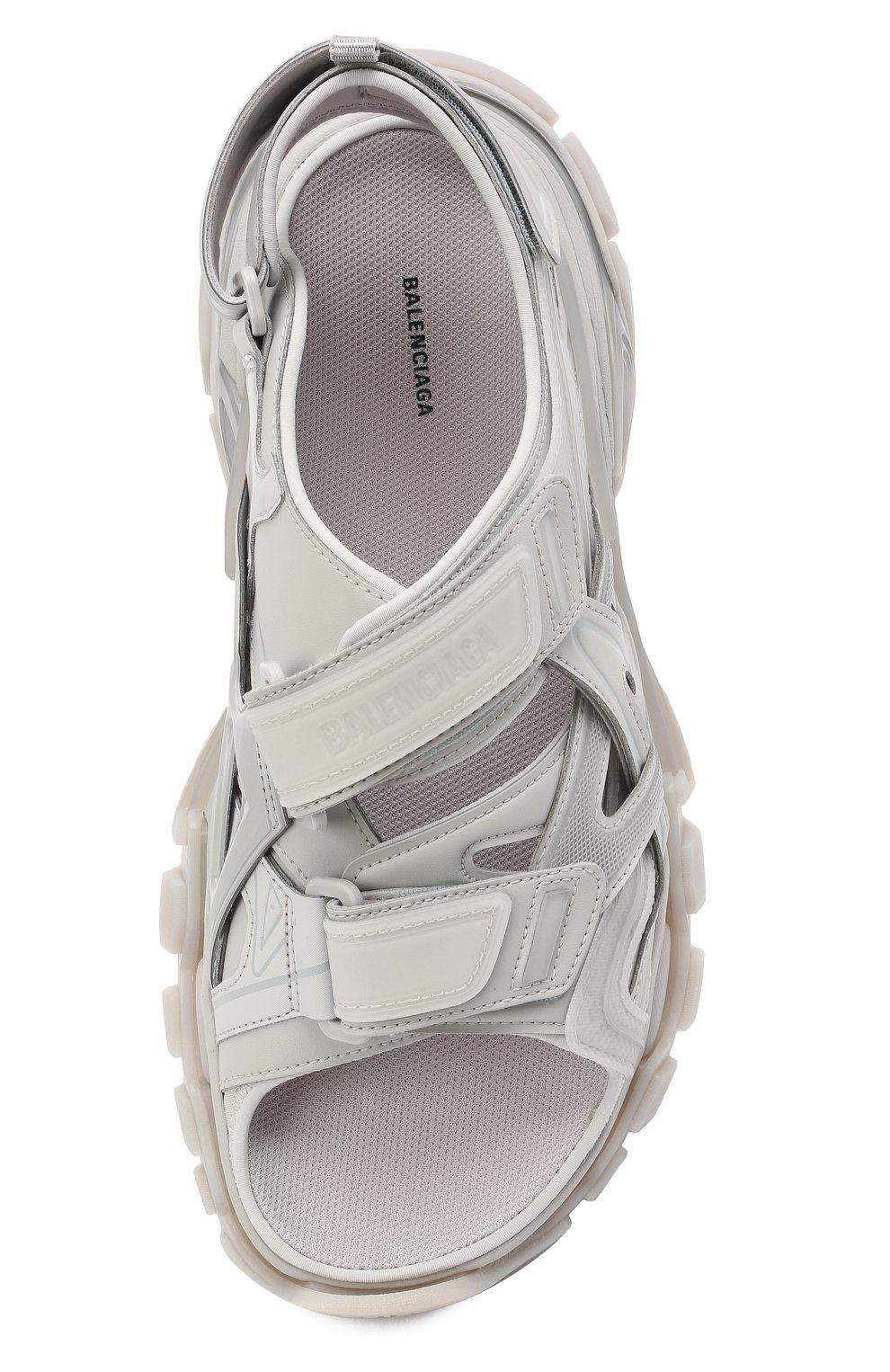 Мужские комбинированные сандалии track BALENCIAGA серого цвета, арт. 655954/W2CC2 | Фото 5 (Материал внешний: Текстиль; Материал внутренний: Текстиль)