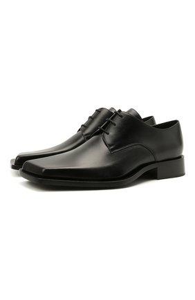 Мужские кожаные дерби cut BALENCIAGA черного цвета, арт. 653994/WBBW1 | Фото 1