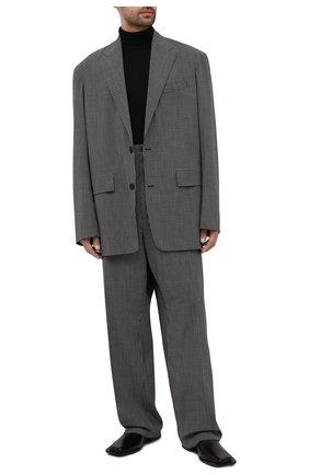 Мужские кожаные дерби cut BALENCIAGA черного цвета, арт. 653994/WBBW1 | Фото 2