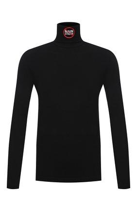 Мужской хлопковая водолазка VETEMENTS черного цвета, арт. UA52TR620B 1607/M | Фото 1