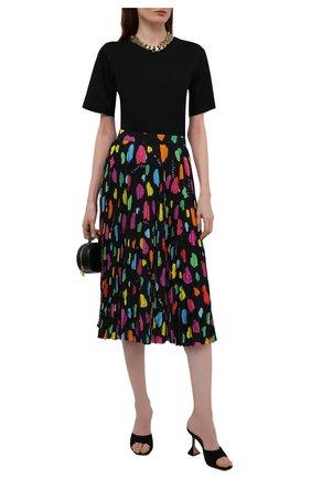 Женская плиссированная юбка BALENCIAGA разноцветного цвета, арт. 659067/TKL09 | Фото 2