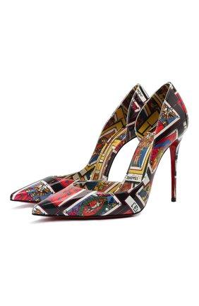 Женские кожаные туфли iriza 100 CHRISTIAN LOUBOUTIN разноцветного цвета, арт. 3210323/IRIZA 100 | Фото 1