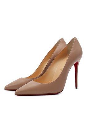 Женские кожаные туфли kate 100 CHRISTIAN LOUBOUTIN темно-бежевого цвета, арт. 3190048/KATE 100 | Фото 1