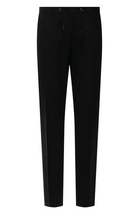 Мужские шерстяные брюки BOSS черного цвета, арт. 50454427 | Фото 1