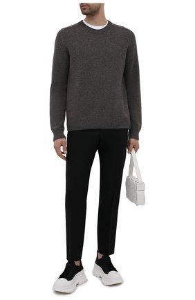 Мужские шерстяные брюки BOSS черного цвета, арт. 50454427 | Фото 2