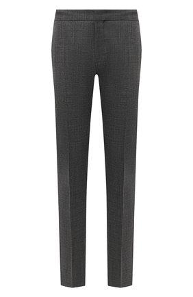 Мужские шерстяные брюки BOSS серого цвета, арт. 50454004 | Фото 1