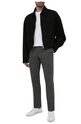 Мужские шерстяные брюки BOSS серого цвета, арт. 50454004 | Фото 2