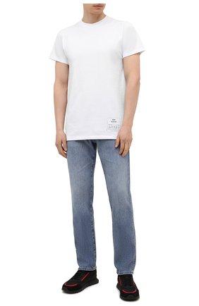 Мужские комбинированные кроссовки HUGO черного цвета, арт. 50451740 | Фото 2 (Материал внешний: Текстиль; Подошва: Массивная)