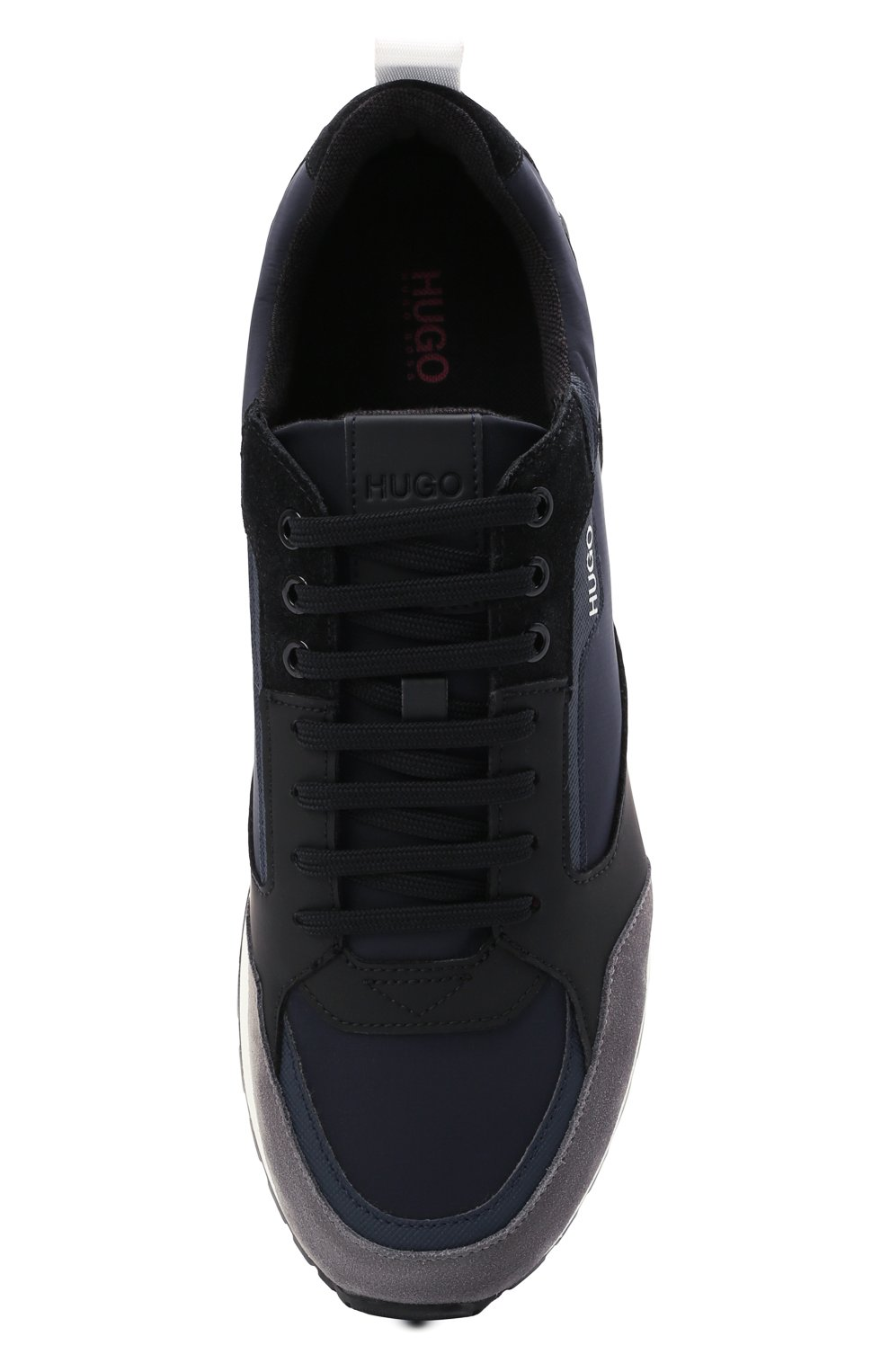 Мужские комбинированные кроссовки HUGO синего цвета, арт. 50451740 | Фото 5 (Материал внешний: Текстиль; Подошва: Массивная)