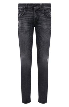 Мужские джинсы 7 FOR ALL MANKIND серого цвета, арт. JSMXU790TH | Фото 1