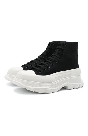 Мужские текстильные кроссовки ALEXANDER MCQUEEN черного цвета, арт. 662678/W4QK1 | Фото 1