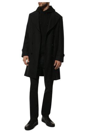 Мужские кожаные кеды SANTONI черного цвета, арт. MBGT21555NE0RNHRN01 | Фото 2