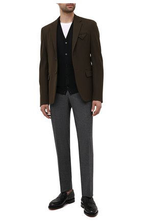 Мужские кожаные лоферы SANTONI черного цвета, арт. MCCG17687MD3HVVDN01 | Фото 2