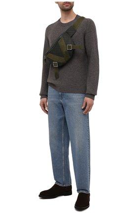Мужские замшевые челси SANTONI темно-коричневого цвета, арт. MCLG17759JM1ASVUT50 | Фото 2