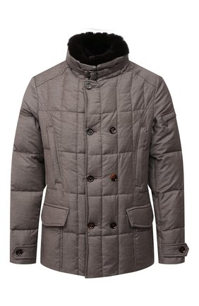 Мужская пуховая куртка с меховой отделкой siro-l MOORER бежевого цвета, арт. SIR0-L/M0UGI100276-TEPA217 | Фото 1 (Длина (верхняя одежда): Короткие; Рукава: Длинные; Материал подклада: Синтетический материал; Материал внешний: Шерсть; Мужское Кросс-КТ: пуховик-короткий; Кросс-КТ: Куртка; Стили: Кэжуэл; Материал утеплителя: Пух и перо)