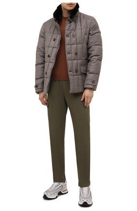 Мужская пуховая куртка с меховой отделкой siro-l MOORER бежевого цвета, арт. SIR0-L/M0UGI100276-TEPA217 | Фото 2 (Длина (верхняя одежда): Короткие; Рукава: Длинные; Материал подклада: Синтетический материал; Материал внешний: Шерсть; Мужское Кросс-КТ: пуховик-короткий; Кросс-КТ: Куртка; Стили: Кэжуэл; Материал утеплителя: Пух и перо)