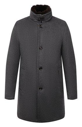 Мужской пальто из шерсти и кашемира bond-fur-le MOORER светло-серого цвета, арт. B0ND-FUR-LE/M0UG2100131-TEPA209 | Фото 1