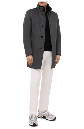 Мужской пальто из шерсти и кашемира bond-fur-le MOORER светло-серого цвета, арт. B0ND-FUR-LE/M0UG2100131-TEPA209 | Фото 2