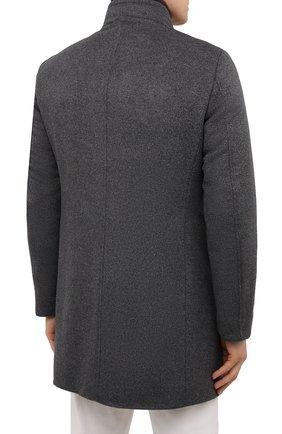 Мужской пальто из шерсти и кашемира bond-fur-le MOORER светло-серого цвета, арт. B0ND-FUR-LE/M0UG2100131-TEPA209   Фото 4 (Материал внешний: Шерсть; Рукава: Длинные; Длина (верхняя одежда): До середины бедра; Стили: Классический; Материал подклада: Синтетический материал; Мужское Кросс-КТ: пальто-верхняя одежда; Материал утеплителя: Пух и перо)