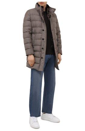 Мужская пуховик из шерсти и кашемира alfieri-fur-l MOORER бежевого цвета, арт. ALFIERI-FUR-L/M0UGI100104-TEPA217 | Фото 2 (Рукава: Длинные; Материал внешний: Шерсть; Кросс-КТ: Куртка; Мужское Кросс-КТ: пуховик-короткий; Стили: Кэжуэл; Длина (верхняя одежда): До середины бедра; Материал утеплителя: Пух и перо)