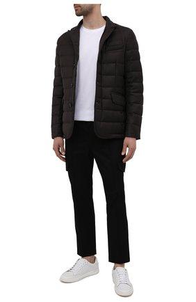Мужская пуховая куртка из шерсти и кашемира zayn-l MOORER коричневого цвета, арт. ZAYN-L/M0UGI100307-TEPA217 | Фото 2 (Материал внешний: Шерсть; Длина (верхняя одежда): Короткие; Стили: Кэжуэл; Мужское Кросс-КТ: пуховик-короткий; Кросс-КТ: Куртка; Материал подклада: Синтетический материал; Рукава: Длинные; Материал утеплителя: Пух и перо)