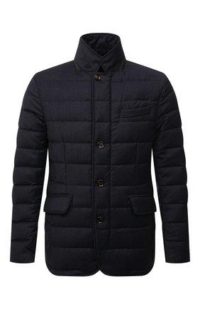 Мужская пуховая куртка из шерсти и кашемира zayn-l MOORER темно-синего цвета, арт. ZAYN-L/M0UGI100307-TEPA217 | Фото 1 (Материал внешний: Шерсть; Длина (верхняя одежда): Короткие; Кросс-КТ: Куртка; Материал подклада: Синтетический материал; Мужское Кросс-КТ: пуховик-короткий; Стили: Кэжуэл; Рукава: Длинные; Материал утеплителя: Пух и перо)
