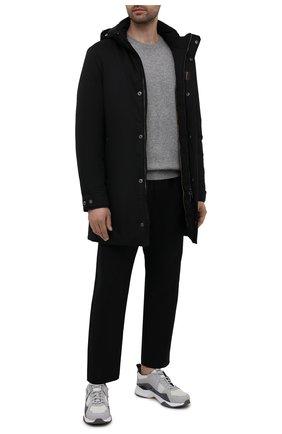 Мужская пуховик vermont-ads MOORER черного цвета, арт. VERM0NT-ADS/M0UCA100028-TEPA011 | Фото 2 (Материал подклада: Синтетический материал; Материал внешний: Синтетический материал; Рукава: Длинные; Мужское Кросс-КТ: пуховик-короткий; Кросс-КТ: Куртка)