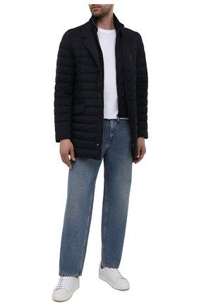 Мужская пуховик ponti-s3 MOORER темно-синего цвета, арт. P0NTI-S3/M0UGI100005-TEPA028 | Фото 2 (Материал подклада: Синтетический материал; Материал внешний: Синтетический материал; Длина (верхняя одежда): До середины бедра; Материал утеплителя: Пух и перо; Рукава: Длинные; Кросс-КТ: Куртка; Мужское Кросс-КТ: пуховик-короткий)