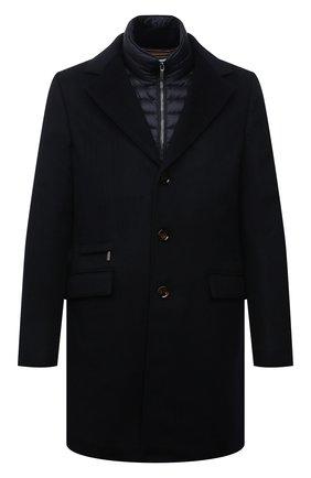 Мужской пальто из шерсти и кашемира harris-le MOORER темно-синего цвета, арт. HARRIS-LE/M0UGI100208-TEPA209 | Фото 1 (Материал внешний: Шерсть; Рукава: Длинные; Материал подклада: Синтетический материал; Стили: Классический; Мужское Кросс-КТ: пальто-верхняя одежда)