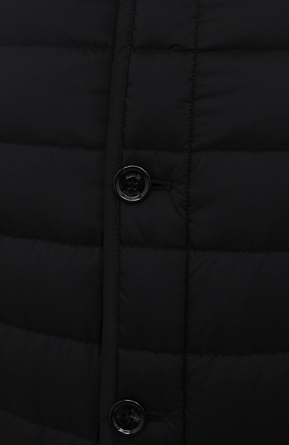 Мужская пуховик grecale-s3 MOORER черного цвета, арт. GRECALE-S3/M0UGI100207-TEPA028   Фото 5 (Кросс-КТ: Куртка; Мужское Кросс-КТ: пуховик-короткий; Рукава: Длинные; Материал внешний: Синтетический материал; Материал подклада: Синтетический материал; Стили: Кэжуэл)