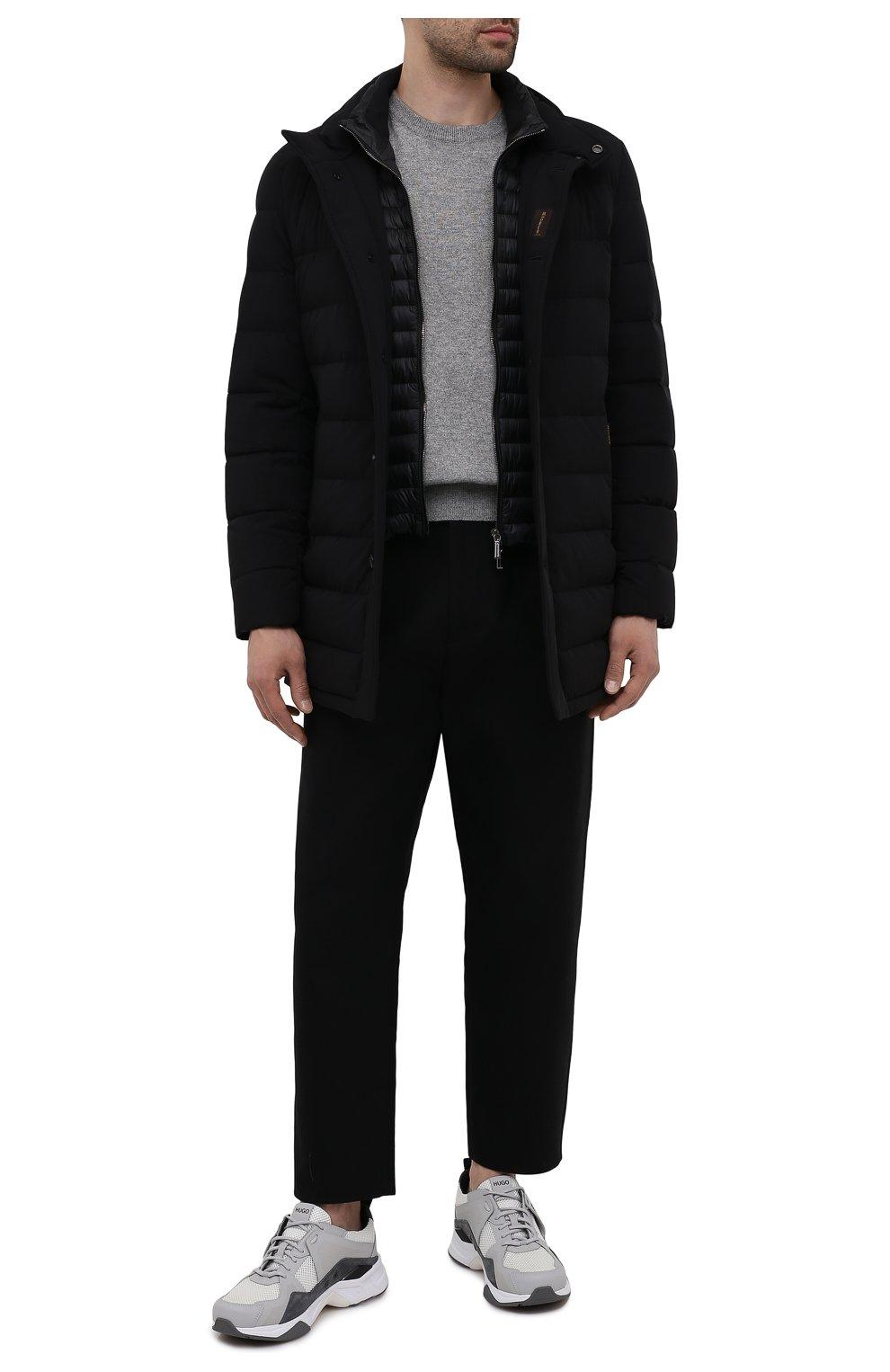 Мужская пуховик calegari-kn MOORER черного цвета, арт. CALEGARI-KN/M0UGI100139-TEPA009   Фото 2 (Кросс-КТ: Куртка; Мужское Кросс-КТ: пуховик-короткий; Рукава: Длинные; Длина (верхняя одежда): До середины бедра; Материал внешний: Синтетический материал; Материал подклада: Синтетический материал; Материал утеплителя: Пух и перо; Стили: Кэжуэл)