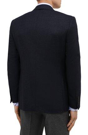 Мужской шерстяной пиджак CANALI темно-синего цвета, арт. 11288/CU02736/112 | Фото 4