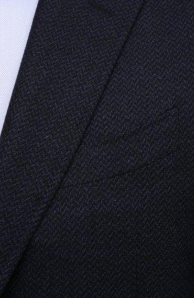 Мужской шерстяной пиджак CANALI темно-синего цвета, арт. 11288/CU02736/112 | Фото 5