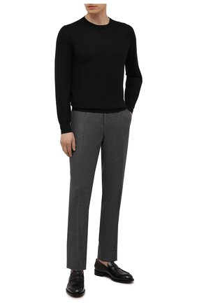 Мужские шерстяные брюки CANALI серого цвета, арт. 71019/BF01268 | Фото 2