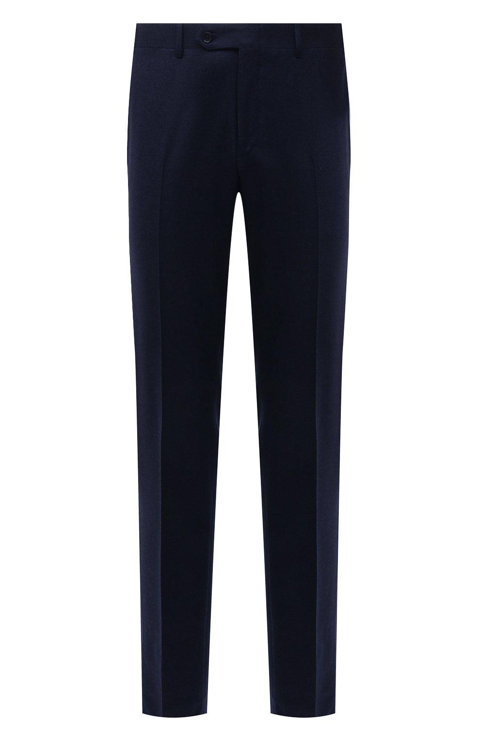 Мужские шерстяные брюки CANALI темно-синего цвета, арт. 71019/BF01268   Фото 1