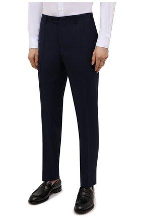 Мужские шерстяные брюки CANALI темно-синего цвета, арт. 71019/BF01268   Фото 3