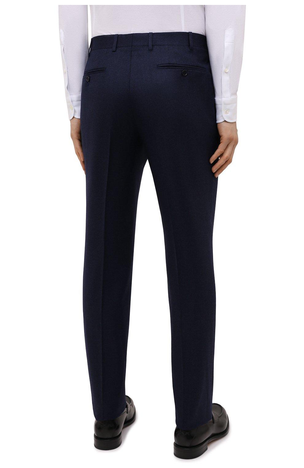 Мужские шерстяные брюки CANALI темно-синего цвета, арт. 71019/BF01268   Фото 4