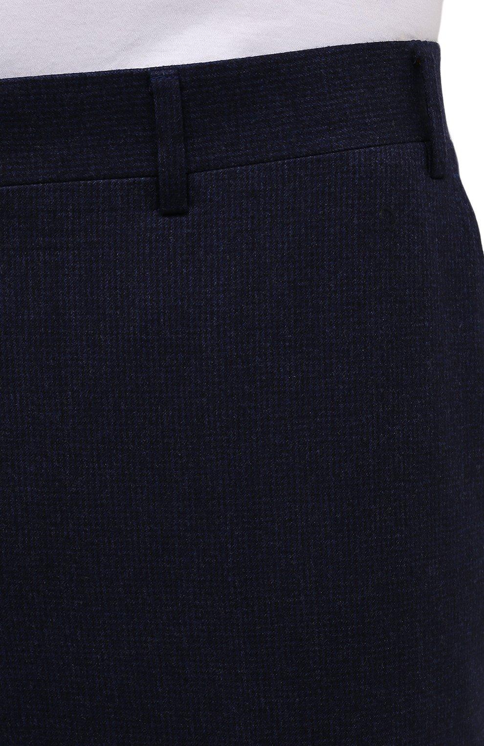 Мужские шерстяные брюки CANALI темно-синего цвета, арт. 71019/BF01268   Фото 5