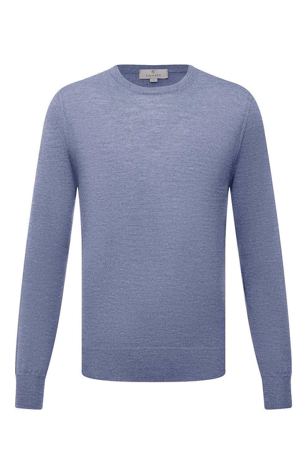 Мужской шерстяной джемпер CANALI голубого цвета, арт. C0012/MK00077   Фото 1