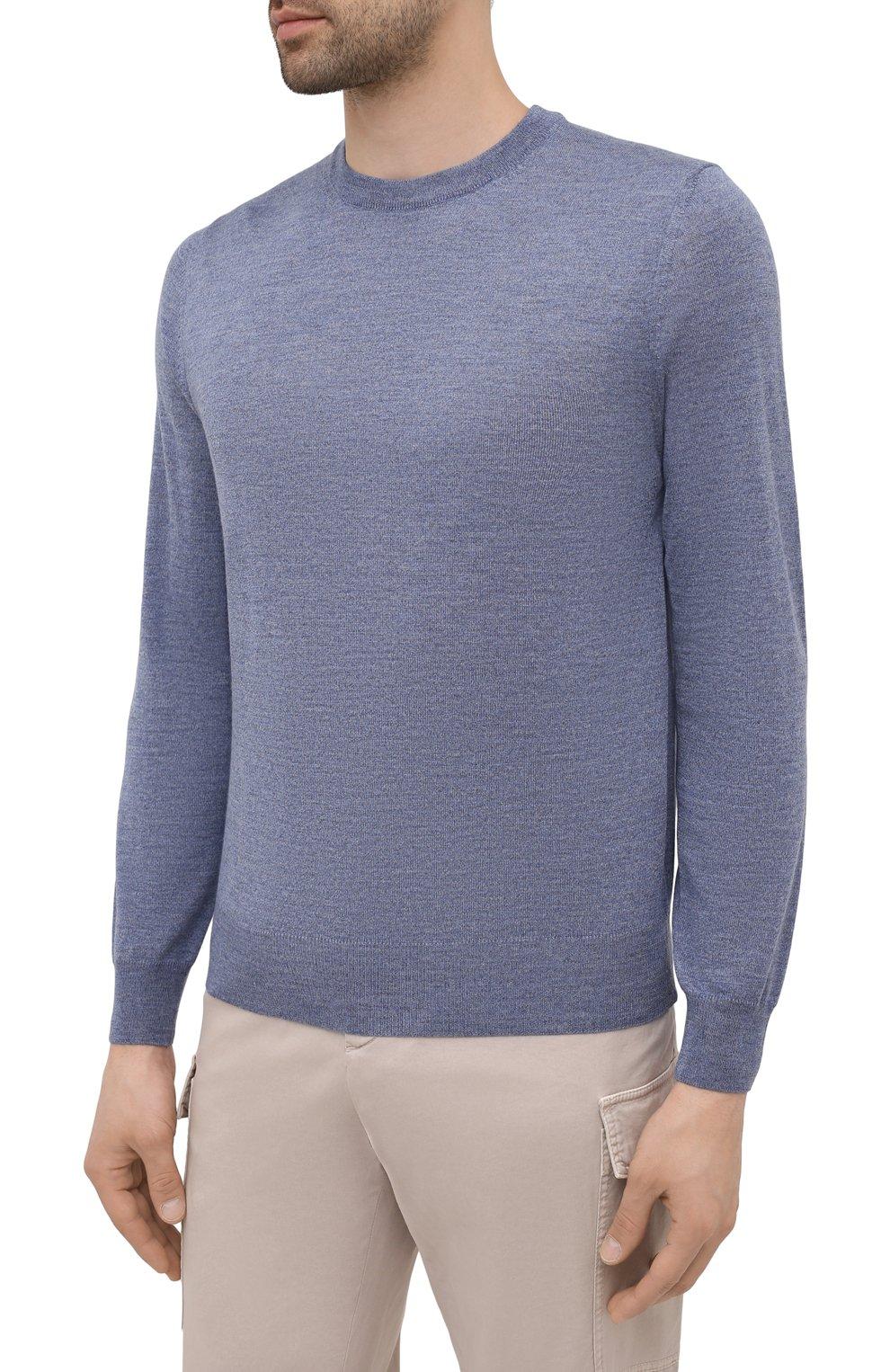 Мужской шерстяной джемпер CANALI голубого цвета, арт. C0012/MK00077   Фото 3