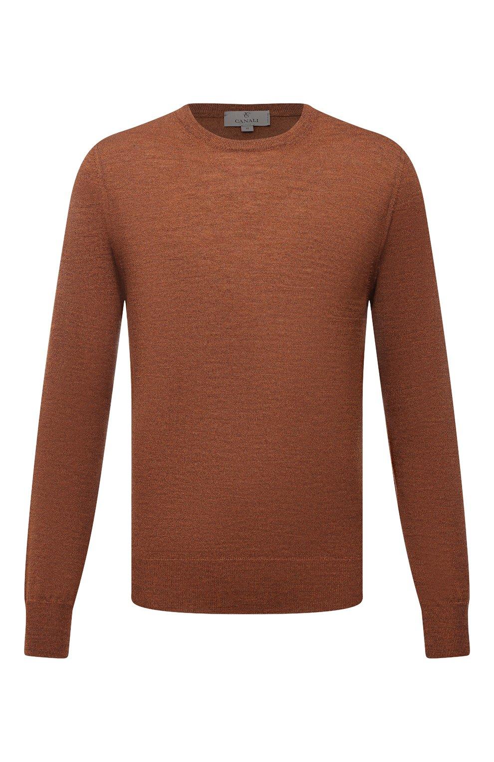 Мужской шерстяной джемпер CANALI коричневого цвета, арт. C0012/MK00077   Фото 1