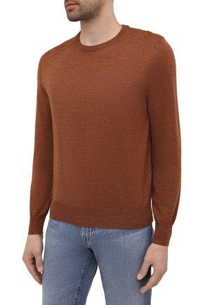 Мужской шерстяной джемпер CANALI коричневого цвета, арт. C0012/MK00077   Фото 3