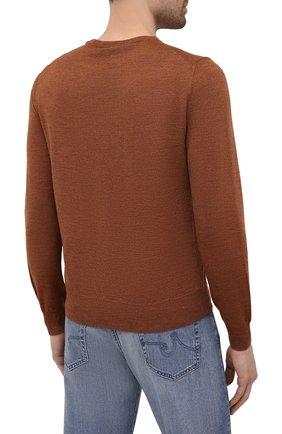 Мужской шерстяной джемпер CANALI коричневого цвета, арт. C0012/MK00077   Фото 4