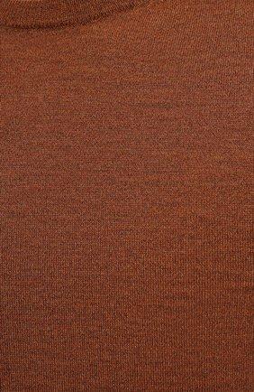 Мужской шерстяной джемпер CANALI коричневого цвета, арт. C0012/MK00077   Фото 5