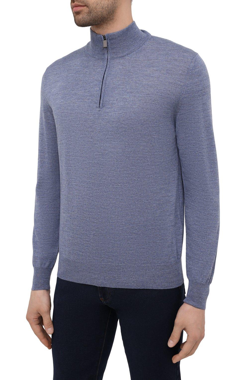 Мужской шерстяной джемпер CANALI голубого цвета, арт. C0015/MK00077 | Фото 3