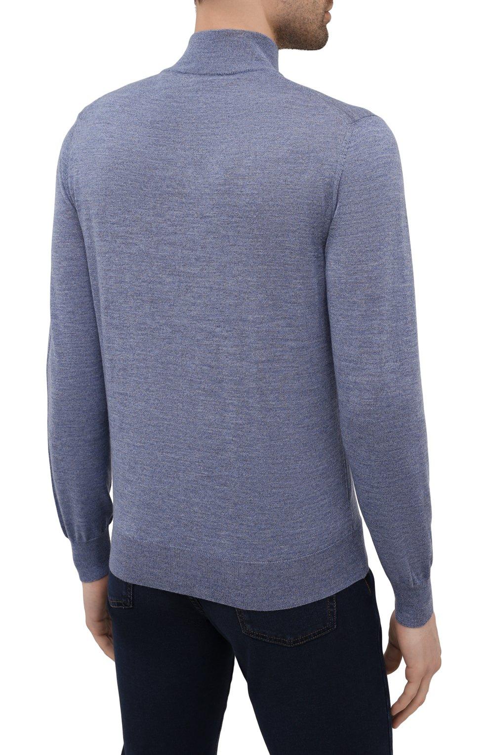 Мужской шерстяной джемпер CANALI голубого цвета, арт. C0015/MK00077 | Фото 4